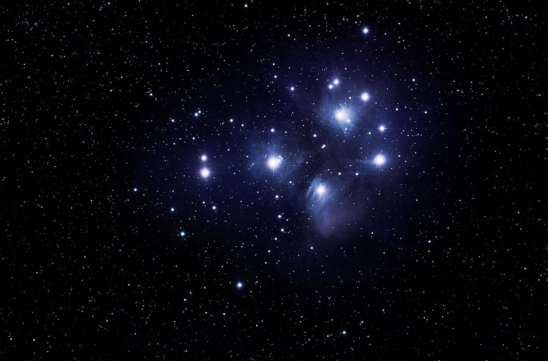 Sjöstirnið - The Pleiades (Messier 45).