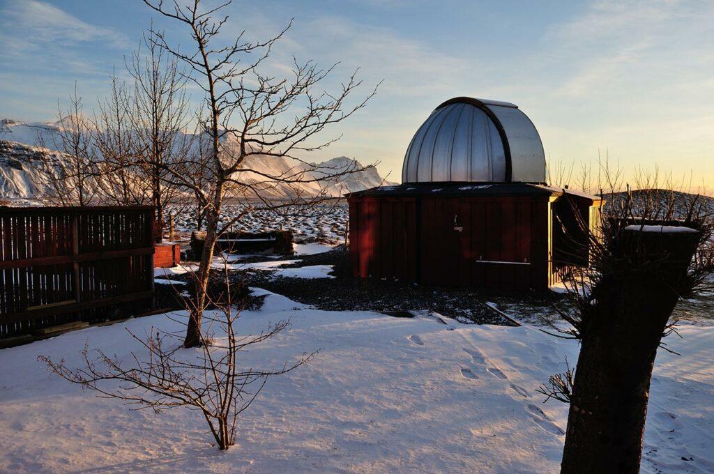 Vetrarsýn, stjörnustöðin, vetur- Winterview, the Observatory