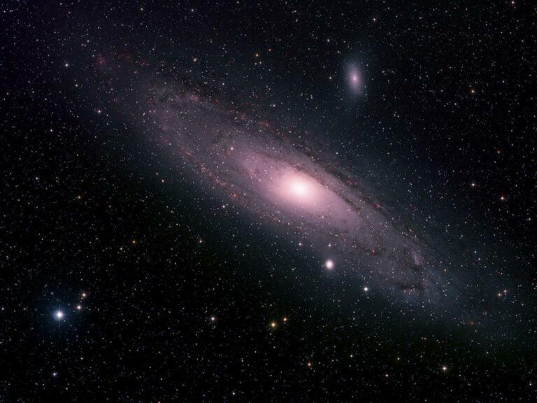 Andrómeduþokan - The Andromeda nebula (Messier 31).