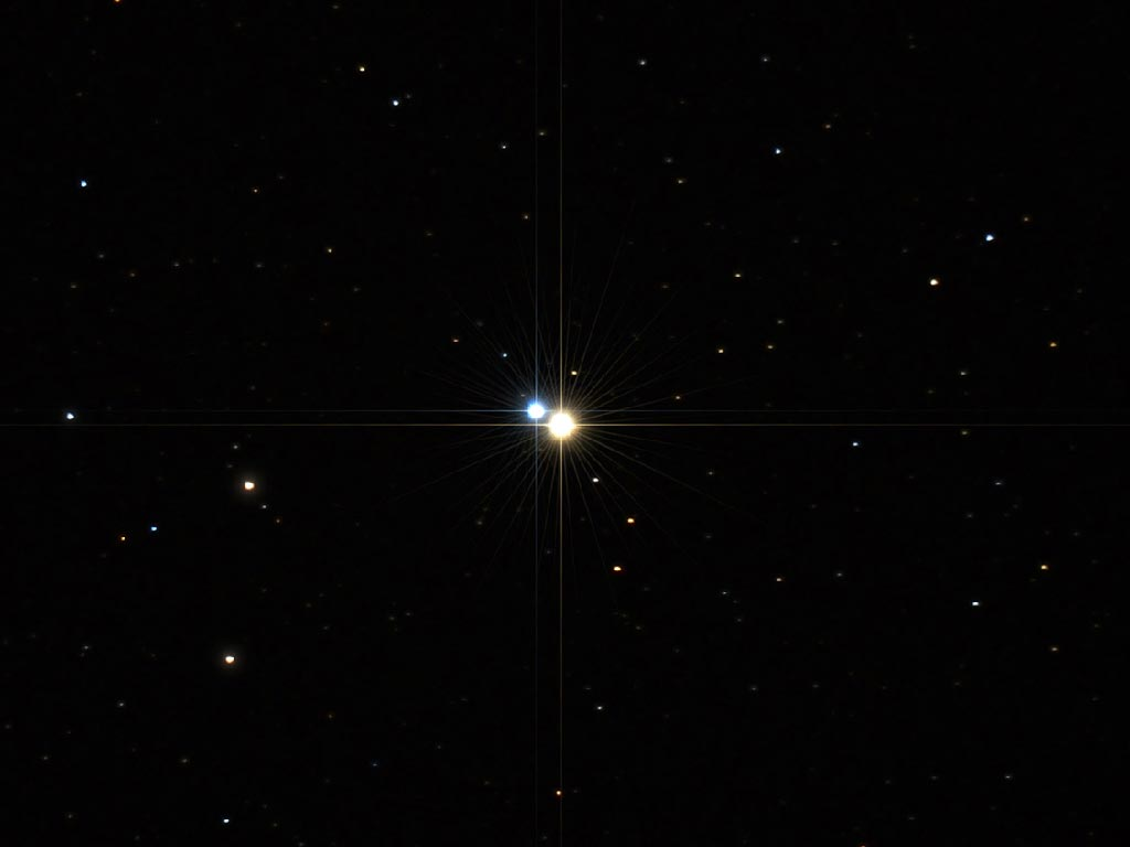 Tvístirnið Albireo - The double star Albireo.
