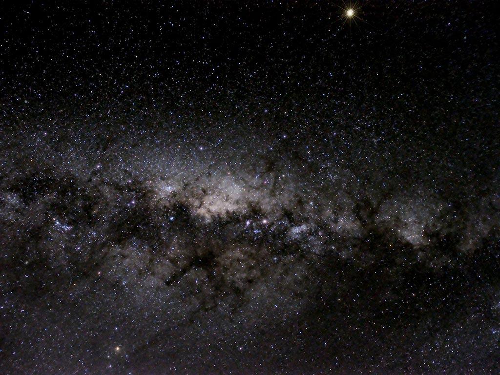 Suðurhiminninn, Vetrarbrautarkeisin - Southern sky, the Galactic bulge.