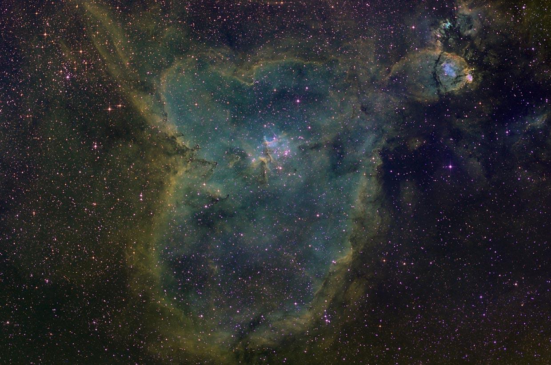 Hjartaþokan - Heart nebula (IC 1805).