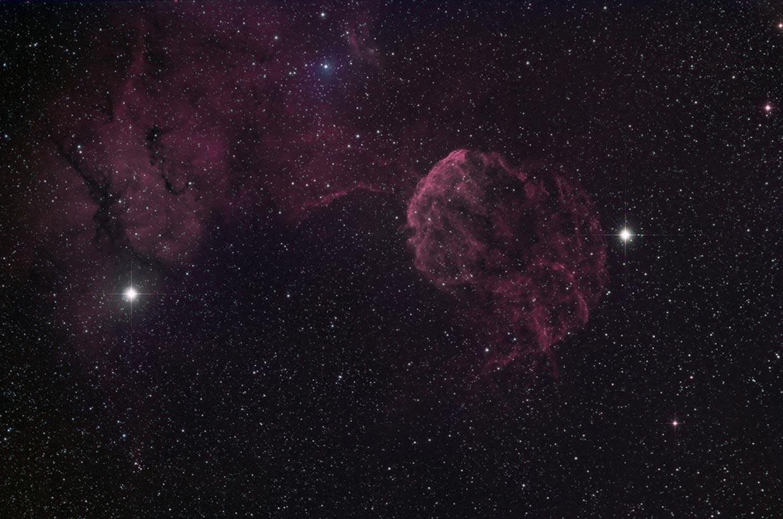 Marglyttan - Jellyfish nebula (IC 433).