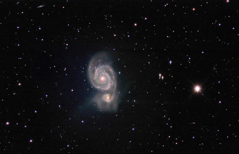 NGC 5194 (Messier 51a) and NGC 5195 (Messier 51b).