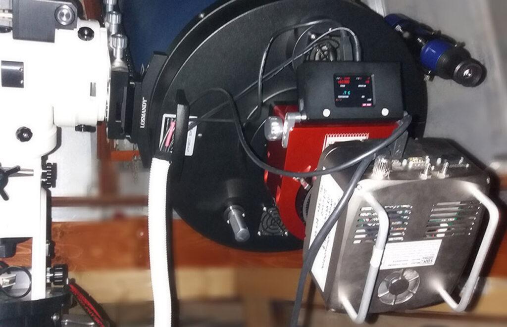 Ljósmælibúnaðurinn - Photometry setup.